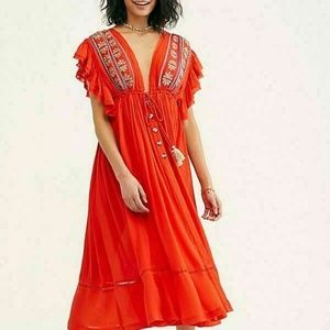 Free People Dresses - Free People Bali Will Wait For You Ruffle Dress S